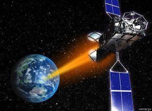 satellite powered by microwaves