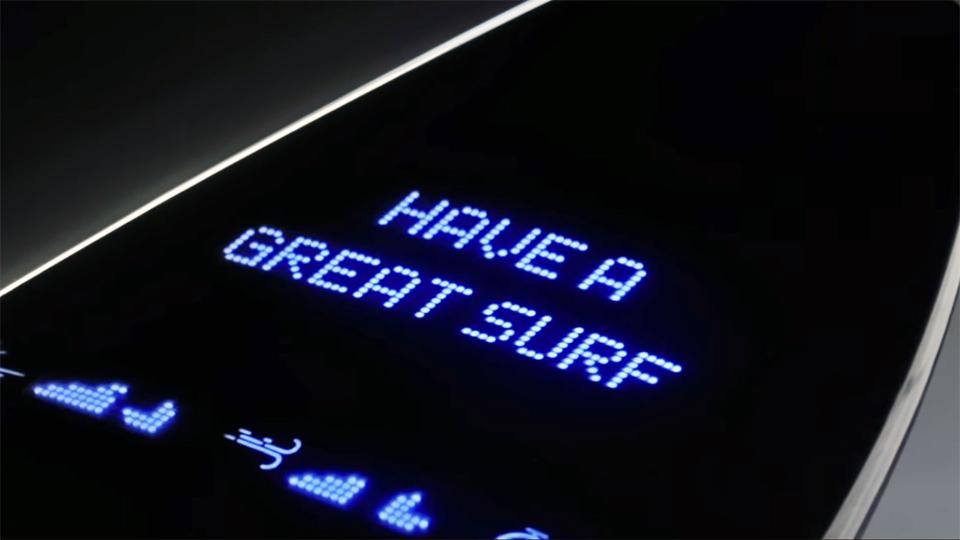 Galaxy surfboard LED Matrix  Display