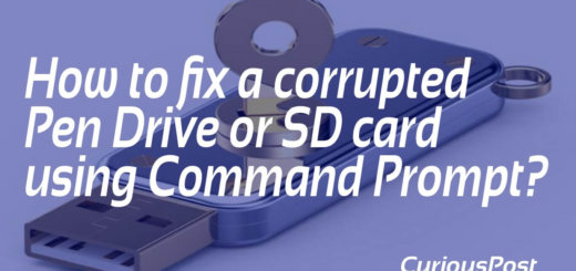 Fix a corrupted pen drive