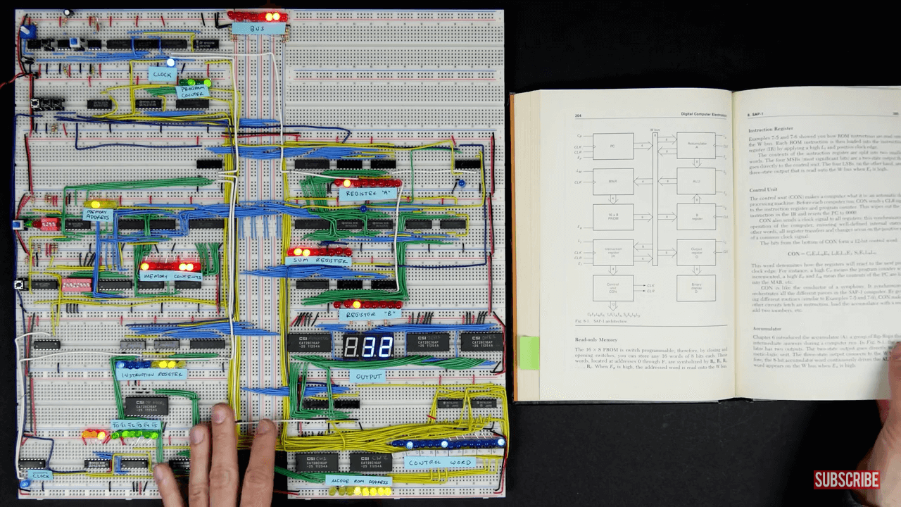 Learn How to Build a 8-bit Computer From Scratch Using Breadboards