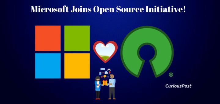 Microsoft Joins OpenSource Initiative