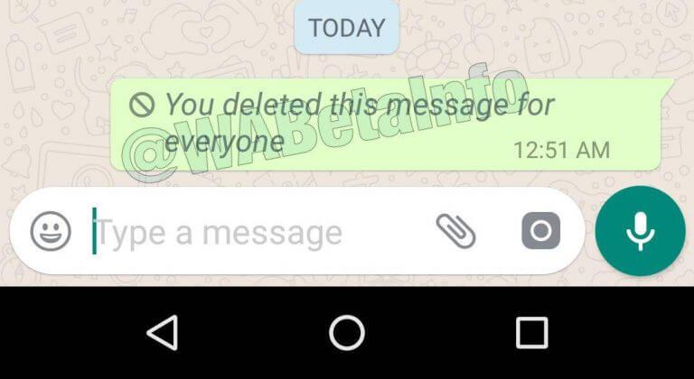 Delete Message WhatsApp1