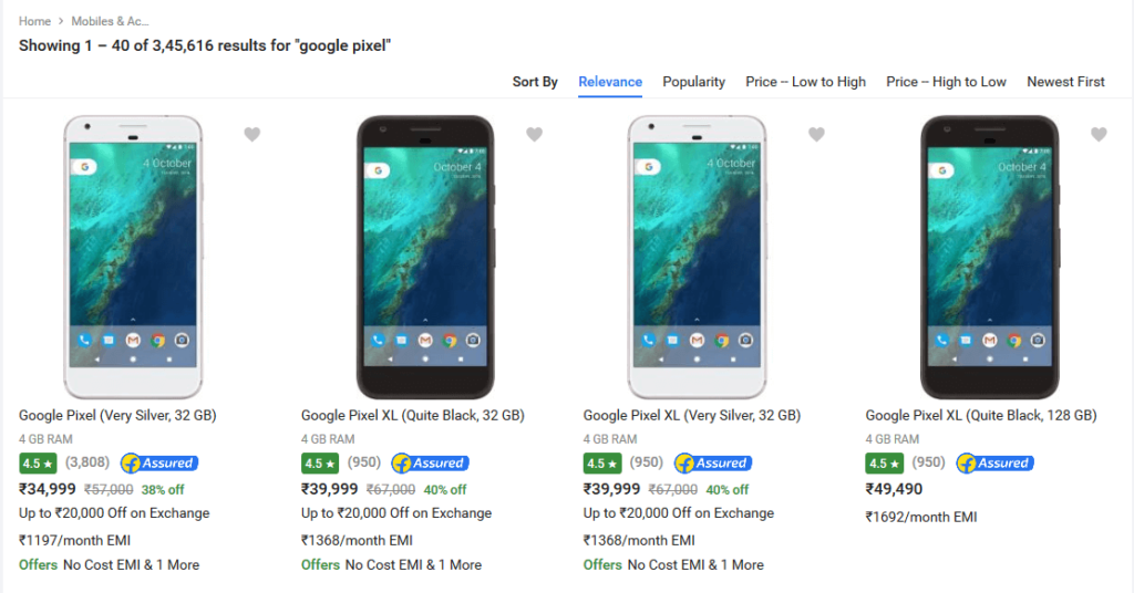 Pixel offers Flipkart
